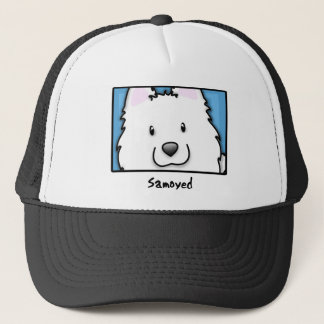 Cartoon Square Samoyed Trucker Hat