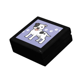 Cartoon Staffordshire Bull Terrier Gift Box
