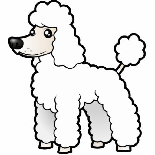 Cartoon Standard/Miniature/Toy Poodle (puppy cut) Photo