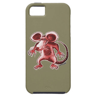 cartoon style angry rat iPhone 5 case