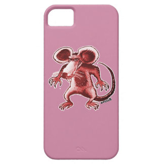 cartoon style angry rat iPhone 5 cases
