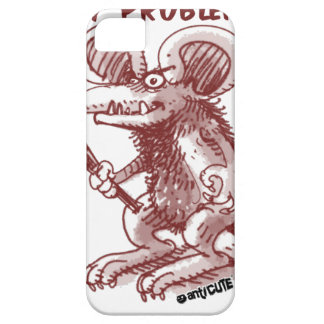 cartoon style illustration angry rat any problem iPhone 5 cover