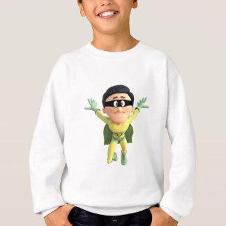 Cartoon Super Toonman in Lime and Green Sweatshirt