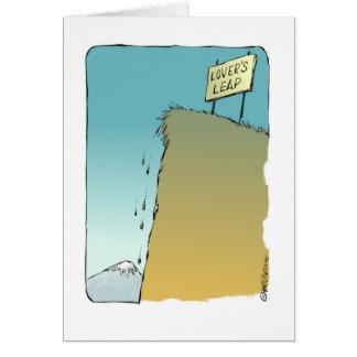 Cartoon Valentine from a secret admirer Greeting Card