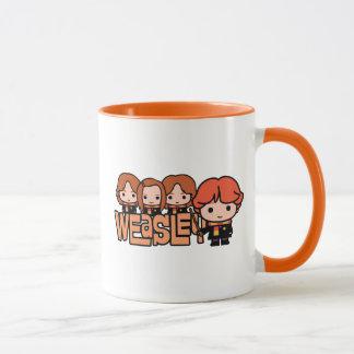 Cartoon Weasley Siblilings Graphic Mug