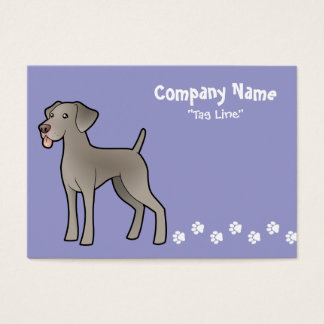 Cartoon Weimaraner Business Card