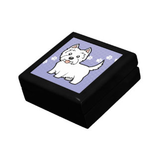Cartoon West Highland White Terrier Gift Box
