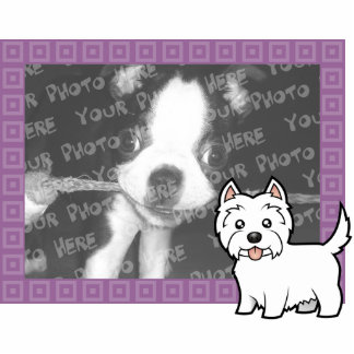 Cartoon West Highland White Terrier Photo Frame Photo Sculpture Magnet