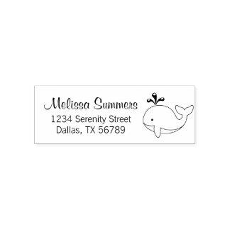 Cartoon Whale Address Self-inking Stamp