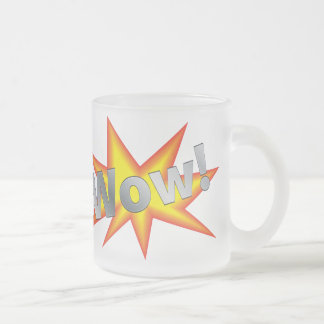 Cartoon WOW Frosted Glass Mug