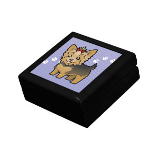 Cartoon Yorkshire Terrier (short hair with bow) Gift Box