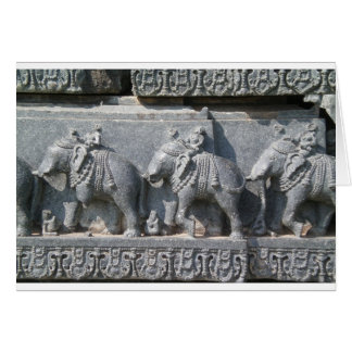 Carved Elephants Greeting Card