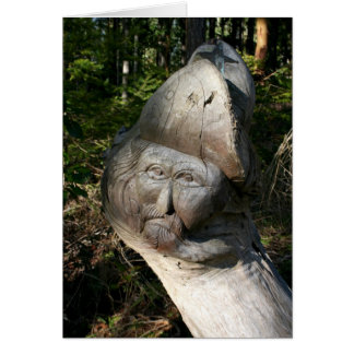 Carved Face Greeting Card