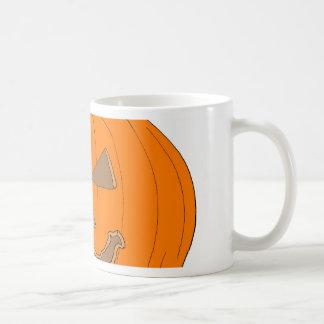 Carved Halloween Pumpkin Pop Art Image Basic White Mug