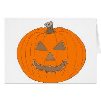 Carved Halloween Pumpkin Pop Art Image Greeting Cards
