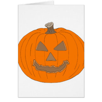 Carved Halloween Pumpkin Pop Art Image Cards