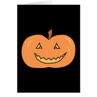 Carved Happy Pumpkin. Halloween. Cards