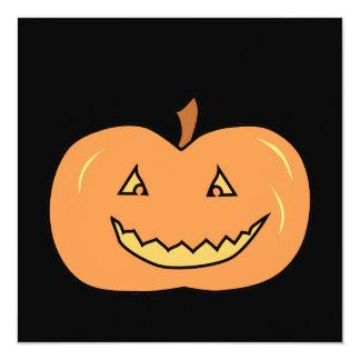 Carved Happy Pumpkin. Halloween. Invite