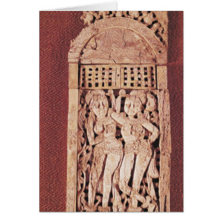 Carved Indian plaque Greeting Card