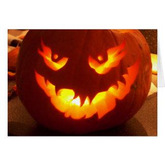 Carved Jack o lantern Greeting Card