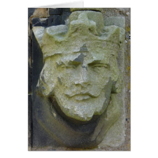 Carved Kings Head, England Card