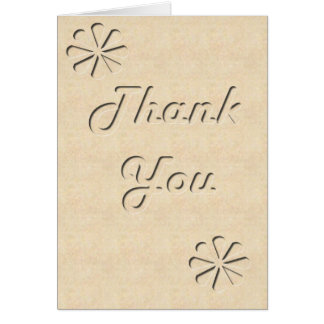 Carved Out Thank You Greeting Card