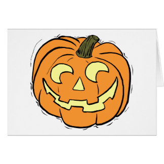 Carved Pumpkin Face Greeting Card