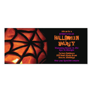 Carved Pumpkin Halloween Party Invitation