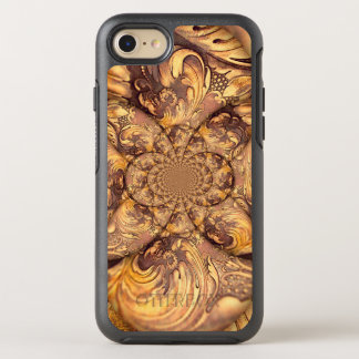 Carved Wood Optical Illusion Brown Honey Neutral OtterBox Symmetry iPhone 8/7 Case