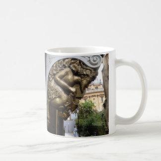 Carving of a faun, Oxford Coffee Mug