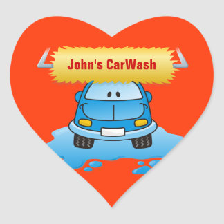 Carwash Heart Sticker