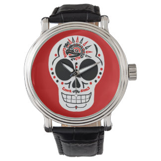 CasaQ Aztec Eagle Calavera Skull Kid's Watch