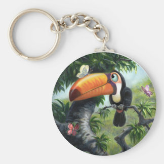 Case of the Butterflies Basic Round Button Key Ring