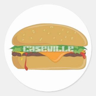Caseville Cheeseburger Festival Tshirts Classic Round Sticker