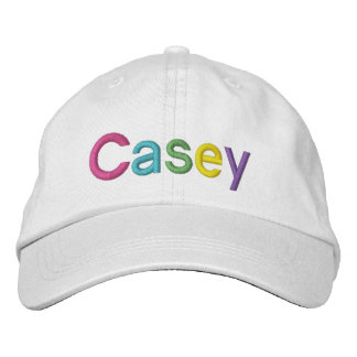 Casey Colorful Embroidered Name on Hat Embroidered Baseball Cap