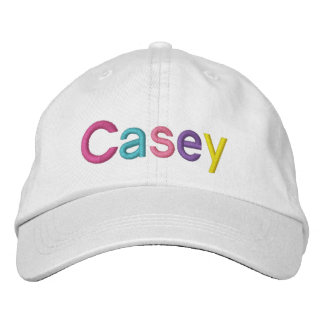 Casey Colorful Embroidered Name on Hat Embroidered Hat