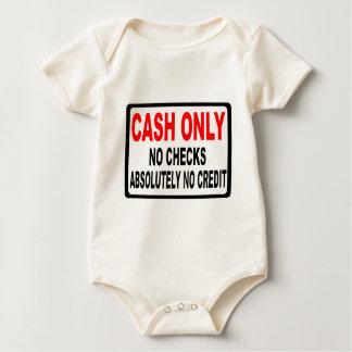 Cash Only No Checks Sign Baby Bodysuit