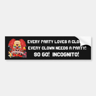 Casino Clown View Notes Please Bumper Sticker