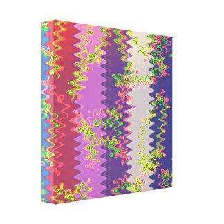 CASINO Deco Las Vegas - Colorful Happy WAVES Canvas Print