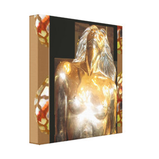 CASINO Deco Las Vegas - Colorful MERMAID GOLD Canvas Print