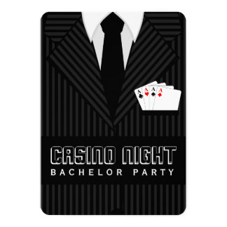 Casino Night Bachelor Party Custom Invitations
