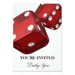 Casino Night Birthday Celebration Invitation