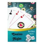 Casino Night Birthday Party Invitations