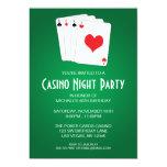Casino Night Birthday Party Personalised Invite