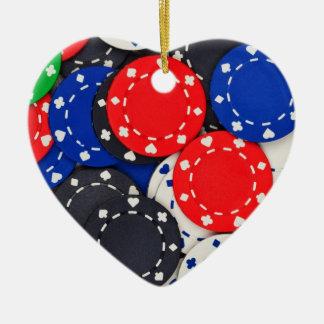 Casino poker chips christmas ornament