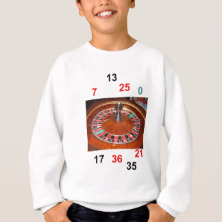 casino roulette wheel and lucky numbers sweatshirt
