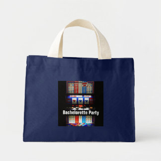 Casino Slot Machine Bachelorette Party Favor Mini Tote Bag