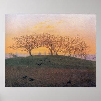 Caspar David Friedrich Hill Plowed Field Dresden Poster