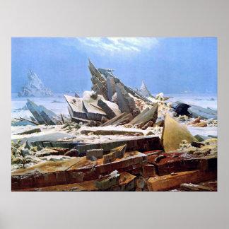 CASPAR DAVID FRIEDRICH - The sea of ice 1824 Poster