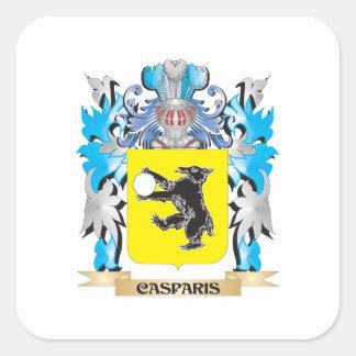 Casparis Coat of Arms - Family Crest Square Sticker